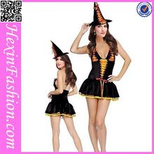 China Factory 3PCS Lace Up Front Witch Costume