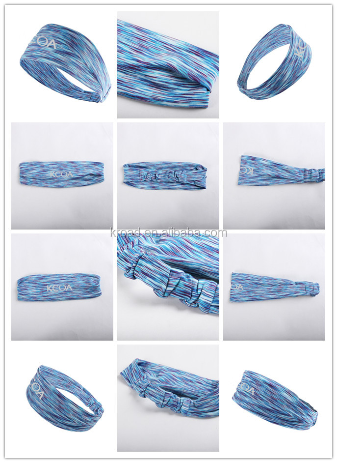 Women Yoga Elastic Head Warp comfortable Hairband camouflage Hair Band promotional Headband