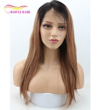 two tone dark to short brown and blonde hair bob roots lace front costume cosplay female wigs