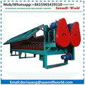 double roller drum wood debarking machine