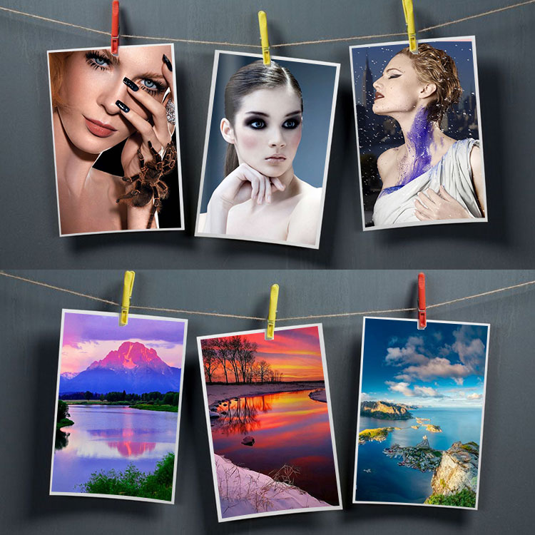 wholesale Double Side lucky waterproof glossy photographic Photo Paper a4 300g with guangzhou factory supply