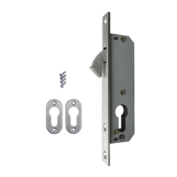 Hot selling Euro standard stainless steel sliding door mortise hook lock with 20mm backset