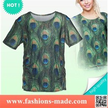 Girls Beauty Peacock Printed T-Shirt
