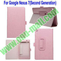 For Google Nexus 7 Second Generation Genuine Leather Case With Stand