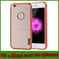 titanium metal bumper case for Iphone 6 4.7 inch cell phone case phone skin cover