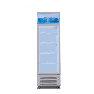 Single glass Door beverage cooler Beverage display refrigerator Upright soft drink commercial refrigerator