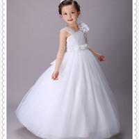 The First Communion Dresses Single Shoulder