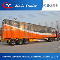 best selling enclosed semi trailer for sale / box semi trailer / van semi trailer
