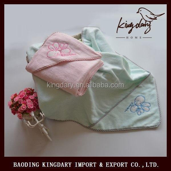 Cute animal embroidery cotton baby hooded towels