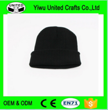 Promotional black warmth winter fun beanie knit hats for men