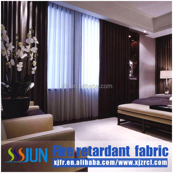 Cheap woven technics jacquard tulle chiffon curtain fabric for hospital cubicle curtain and waterproof fireproof curtains