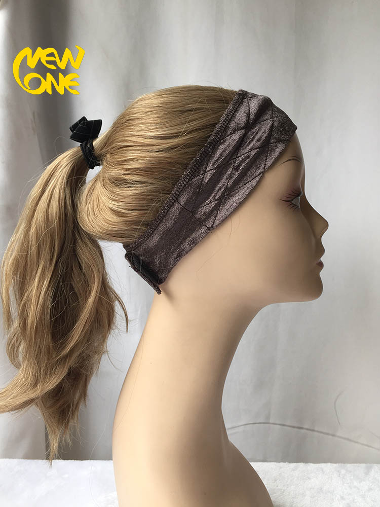 Highest quality raw virgin 3/4 band fall ponytail wig