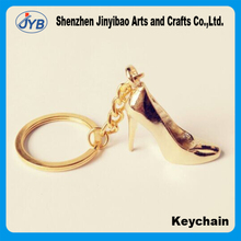Custom metal high-heeled shoes key ring for wedding souvenir