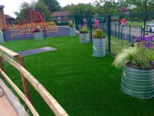 Movable Lawn Pad Cheap Prices Artificial Grass Tiles For Leisure Venues Kindergarten