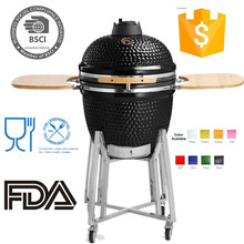 Table top ceramic kamado charcoal bbq barbecue gri grill