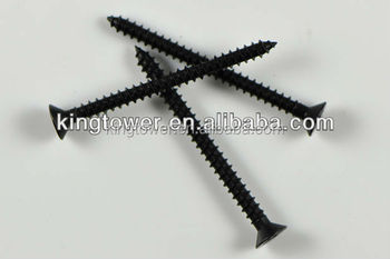 black wood self tapping drywall screws for wood