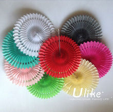 Popular Tissue Paper Fans amusement pearl and diamonds party decorations