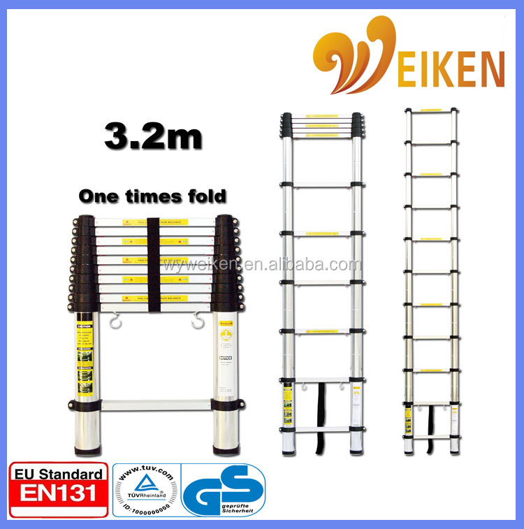 Max load 150kgs single side telescopic lightweight ladders
