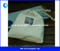 natural cotton muslin bag with brand printing