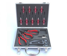 KDS 450 RC Helicopter Screw Driver Pliers Tool Set in Aluminium Carry Case 3013