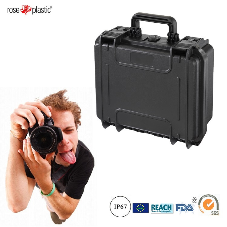 Plastic durable hard indurative handheld outdoor camera equipment case with IP67 waterproof RC-PS 225