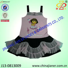 brand girls fancy dress party dress for cute baby