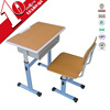 Adjustable steel single school desk and chairs sets / used tables and chairs for sale