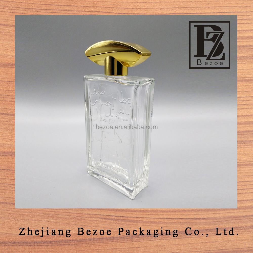 High quality perfume bottles glass 100 ml with pattern