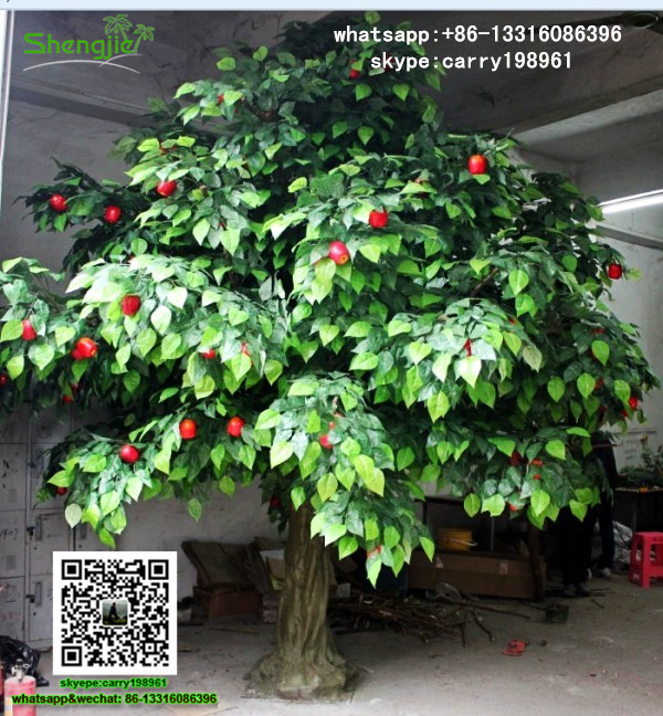 SJPGS-04 artificial ornamental plants cheap artificial fruit trees for sale fake apple tree