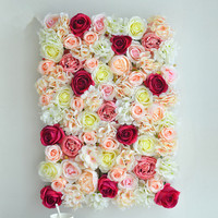 artificial flower wall flower mat for wedding wall