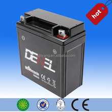 12V5Ah dry charged maintenance free lead acid motorcycle battery