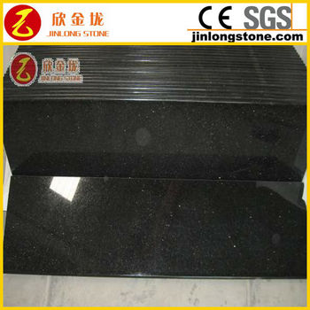 Galaxy Black Granite for Steps Interor