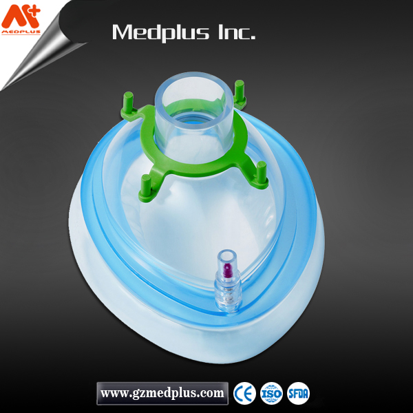 Hot sale Medical PVC Inflatable Disposable Anesthesia Mask-3