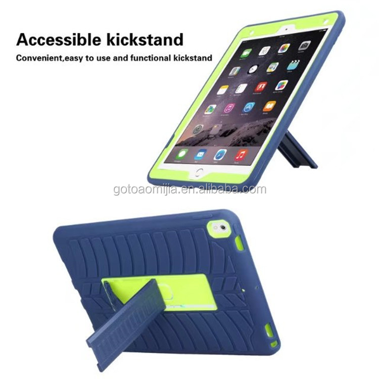 3 in 1 Shockproof Tyre markings Tablet computer Protective case cover For iPad Pro 10.5 inch with kickstand