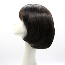 Silk Top 100% Indian Short Bob Full Lace Human Hair Wig For Women