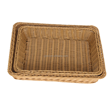 wholesale seafood restaurant equipment with pretty PE plastic rattan food basket