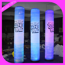 2017 Hot sale LED inflatable tube, inflatable lighting tube, inflatable totem for sale