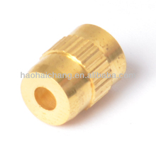 Brass round steel hollow bolt and nut