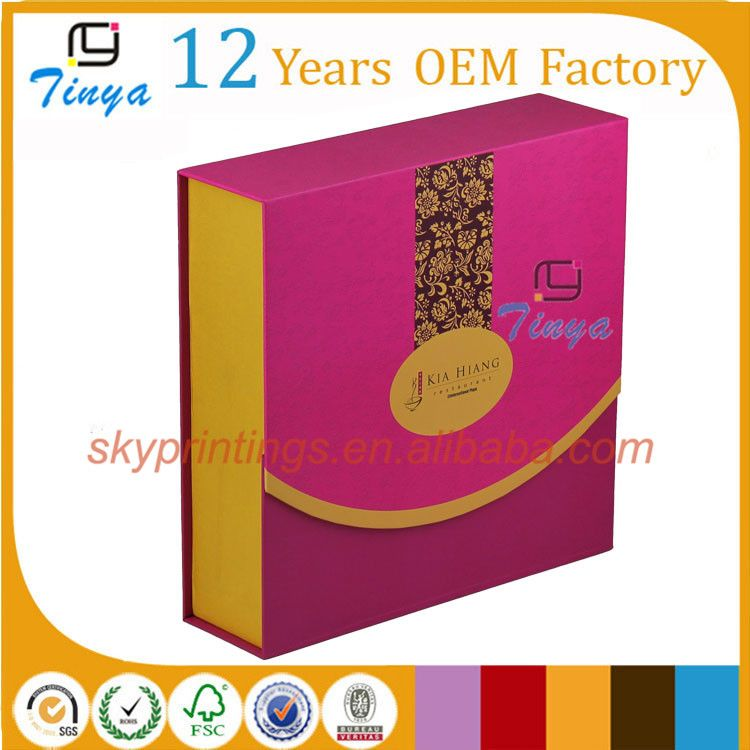 China factory mooncake packaging box cake box