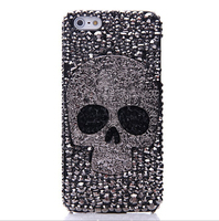 Vintage Alloy Skuff Bling Diamond Crystal cell Phone case For samsung note 3 case
