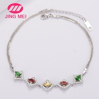 Manufacturers wholesales business fashion bracelet,zircon gemstone copper jewelry