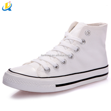 Classic Popular high cut style black adult high top sale canvas shoe