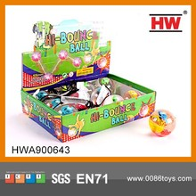 High Quality 5.5CM Smiling And Fish Flashing Jumping ball