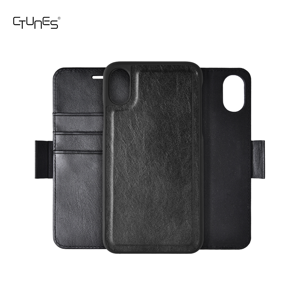 C&T Detachable Leather Wallet Folio Case With ID Credit Card Slots Magnetic Closure For iPhone X
