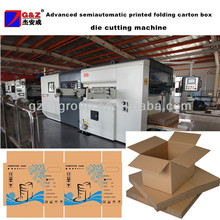 Advanced semiautomatic printed folding carton box die cutting machine
