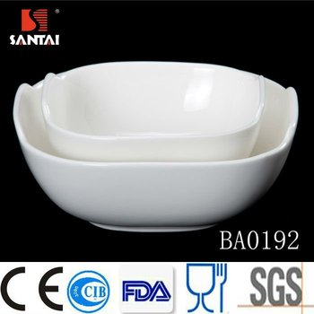 (2012Canton Fair)Square bowl Porcelain Dinnerware Set