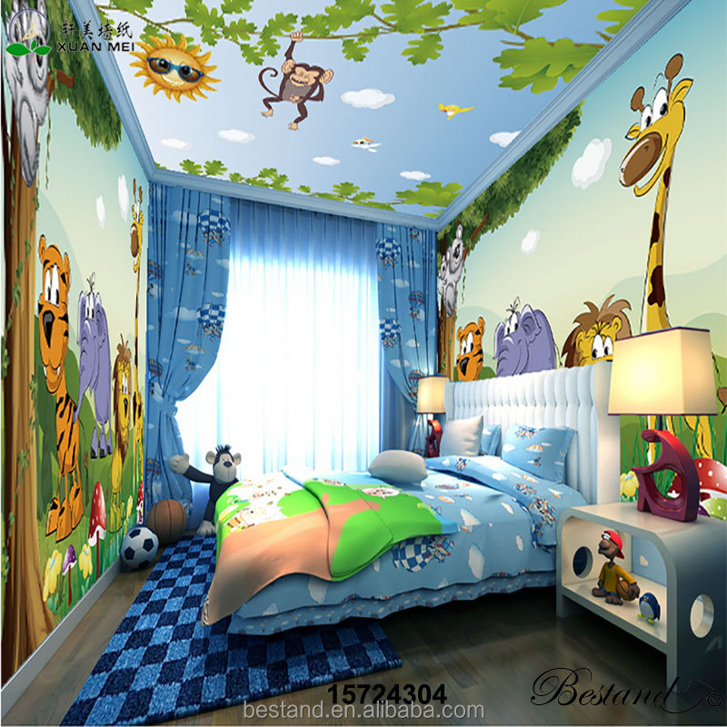Manufacturer supplys whole room decor childrens nursery murals for bedroom