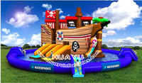 2016 hot selling most popular children water park/Customized Giant Inflatable Water Slide/factory price of slide for customers