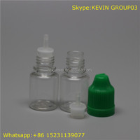 china wholesale market supply pet 5ml essential oil plastic vial bottle/plastic juice bottles with green cap