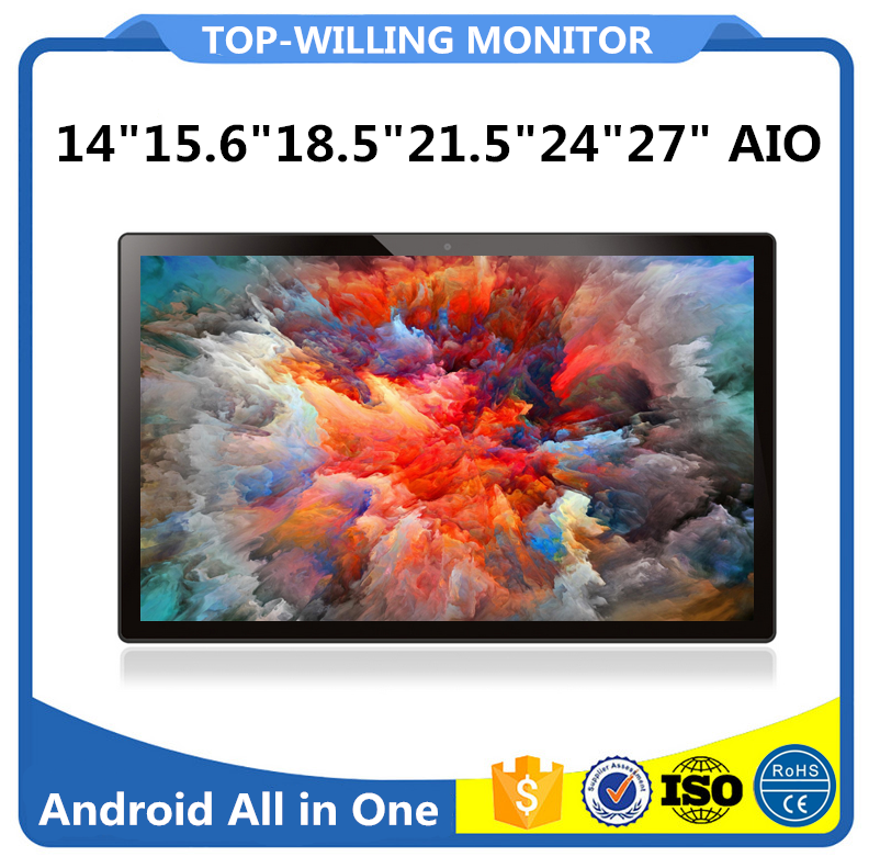 LOGO OEM 1920x1080 Resolution 21.5 inch Tablet PC Android 5.1 2G+16G All in One